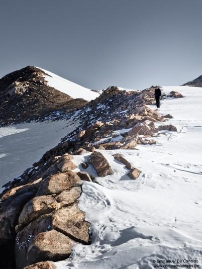 64. Jacque Toubib crête entre deux plateaux de Pingvinane et Tanngarden