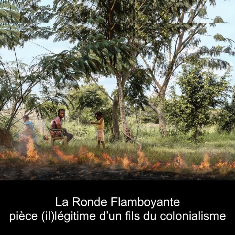 Visuel Ronde Flamboyante Bloc noir pour site maps